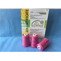 Wholesale 100% Cone Chemical Resistance Ring Spun Polyester Yarn / Heavy Duty Sewing Thread from china suppliers