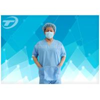 Wholesale SMS Nonwoven Surgical  Medical Scrub Suit  / Disposable patient Gowns , CE And ISO from china suppliers