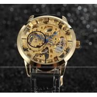 Wholesale Gold Dial Steel Mens Wrist Watches With Gold Case 30m water proof For Boy from china suppliers