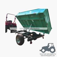Wholesale 4TR3WT - 3-Way Dump Trailer Agriculture trailer with handbrake Loading capacity 4Ton from china suppliers