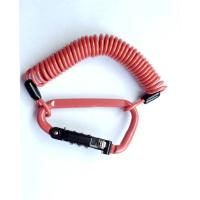 Wholesale 3.0mm PVC Coating Orange 3-Digit Combination Mini Cable Lock for Security from china suppliers