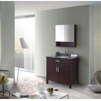 Quality curved solid wood bathroom furniture for sale