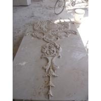 Wholesale Beige marble carved panel by hand from china suppliers