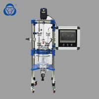 China PLC Double Jacket Lab Glass Reactor Explosion Proof Design For Alcohol Distillation on sale