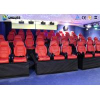Wholesale Cinema System 5D Movie Theater With Certification Red Motion Seat / Special Effect from china suppliers