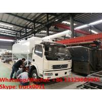 Buy cheap 2018s cheapest price 5-6tons hydraulic discharging chicken feed pellet delivery vehicle for sale, bulk feed truck from wholesalers