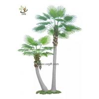Wholesale UVG PTR047 various high quality artificial palm trees wholesale with PU fan coconut leaves from china suppliers
