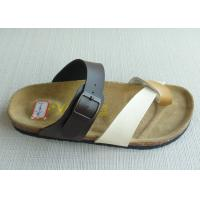 Wholesale Shopping / Office Summer Men Cork Sandals , PU Textile Open Round Toe from china suppliers