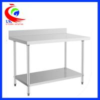 Wholesale Disassemble stainless steel worktable with back splush / stainless food prep table from china suppliers