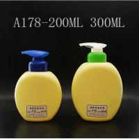 Wholesale Flat Round Plastic  Shampoo Bottles 200ml 300ml, Children Lotion Pump Bottle from china suppliers