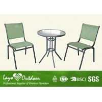 Wholesale Simple Aluminum Patio Furniture Sets Restaurant Bistro Tables And Chairs from china suppliers