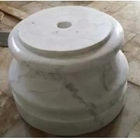 Wholesale China Marble Base Guangxi White Marble Round Umbrella Base China Carrara Marble Base from china suppliers