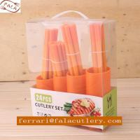 Wholesale China OEM/ODM High Bright 24Pcs Yellow Plastic Handle Cutlery from china suppliers
