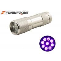 Wholesale MINI Portable 395nm UV LED Flashlight Works with 3*aaa Battery Currency Detector from china suppliers