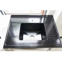 Quality Black Color Epoxy Resin Sink With Drain Grooves Use For Science Lab Furniture for sale