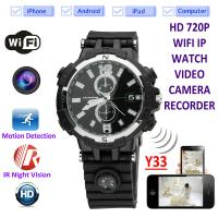 Quality Y33 8GB 720P WIFI IP Spy Watch Camera Home Security Smart  Remote CCTV Video Monitor IR Night Vision Nanny Baby Monitor for sale