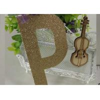 Wholesale Letter P Gold Sparkle Letters , Glitter Stick On Letters For Bedroom from china suppliers