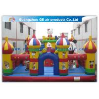 Wholesale Colorful Inflatable Amusement Park , Fun City Commercial Inflatable Bouncers Castle from china suppliers