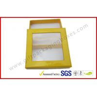 Wholesale Customized Chocolate Packaging Boxes / PVC Window Square Shape Box from china suppliers