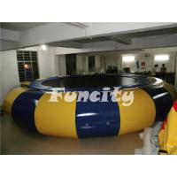 Wholesale 0.9MM Thickness PVC Tarpaulin inflatable water trampoline from china suppliers
