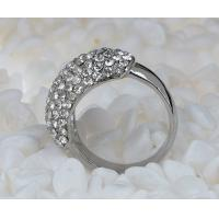 Wholesale Costume Delicate Fashion Jewelry Rhinestone Diamond Wedding Circle Rings from china suppliers