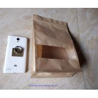 Wholesale Laminated Brown Craft Paper Bags With Transparent Window In Front For Garment from china suppliers