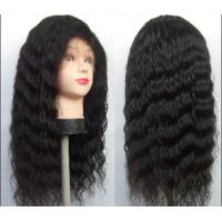 Wholesale Front Lace human hair curly wigs With Baby Hair Around , deep loose wave human hair from china suppliers
