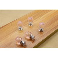 Quality Flower Style Crystal Door Knobs Drawer Pulls Furniture Handles for sale