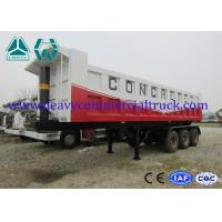 Quality Mechanical 35T Q610 Shock Proof Tipper Semi Trailer  , 2 Axle Trailer for sale