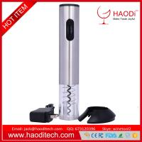 Wholesale Automatic CordlessRechargeable Electric Wine Bottle Opener With Foil Cutter Base with LCD Logo Display Sliver from china suppliers