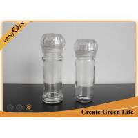 Wholesale Food Grade 90ml Glass Sauce Bottles With Pepper Plastic Grinder 43mm Diameter from china suppliers