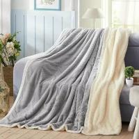 China Fashion Embossed Plush Flannel Throw Blanket Anti Crease For Chair / Bed / Sofa on sale