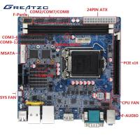 Wholesale LGA115 Industrial PC Motherboard H110 Chipset , 2 RJ45 LAN , 12 COM Ports from china suppliers