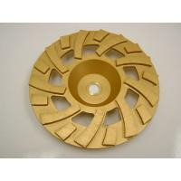 China Golden Sintered Fan Diamond Turbo Cup Wheel , Concrete Grinding Cup Wheel on sale