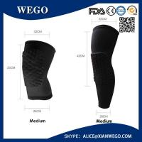 Wholesale Practical Honeycomb Pad Crashproof Basketball Protect Gear Long Leg Knee Sleeve from china suppliers