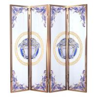 Wholesale Movable Decorative Glass Partition For Sitting Room Partition , Tempered Glass from china suppliers