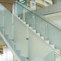 Buy cheap Glass Shower Enclosure, Frosted/Etched Glass, Staircase, Office Building Partitions from wholesalers