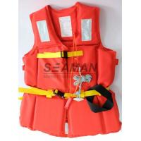 Quality 210D Polyester Oxford EPE Foam Workers Adult Life Vest With Whistle / Rescue Buddy Line for sale