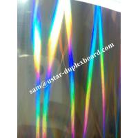Wholesale light pillar holographic pattern duplex board with small lines from china suppliers