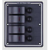 Buy cheap 4-way Aluminum panel Marine Rocker Switch Panel from wholesalers