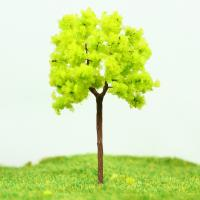 Wholesale OEM Miniature Model Trees Yellow Green Street Wire Tree 7cm from china suppliers