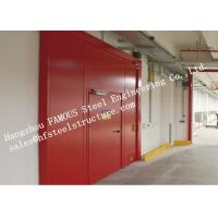 China PU Sandwich Core Painted Surface Steel Fireproof Doors For Warehouse Storage on sale