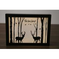 Wholesale hot sale various styles wooden frame christmas decoration light box from china suppliers