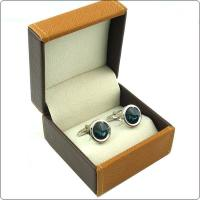 Wholesale Custom Jewelry Packaging Leather Cufflink Box Black Color With Lids from china suppliers