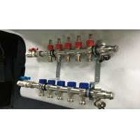 Buy cheap Long Red Flow Meter Central Heating Radiator Manifold / Balancing In Floor Heat Manifold from wholesalers