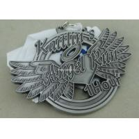 Wholesale Soft Enamel Die Casting Medals For Running , Brass Awards Medal With Sublimation Ribbon from china suppliers