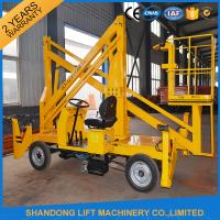 Wholesale Automatic 4 Wheels Articulated Vehicle Mounted Boom Lift for 8m - 14m Aerial Work from china suppliers