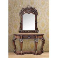 Wholesale American Style Wooden Dressing Table With Mirror Brown Painted 1.5m from china suppliers