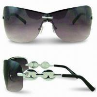 Wholesale Fashion Sunglasses with Cupronickel Frame and Scratch-resistant Coating on Lens from china suppliers