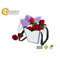 Quality OEM / ODM Customized Flower Gift Packaging Boxes With Silk Printing for sale